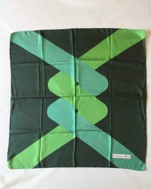 DIOR carré foulard en soie circa 1970