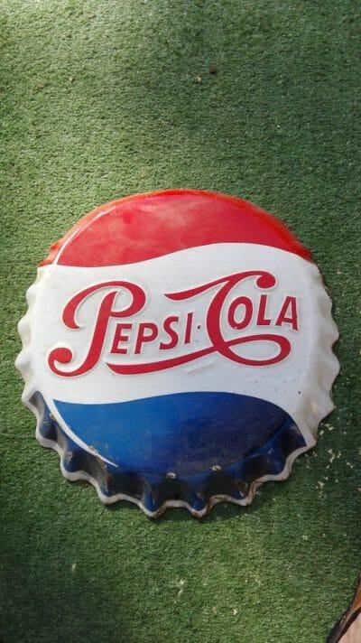 plaque émaillé vintage pepsi cola