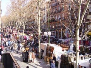 Marché d'El Rastro à Madrid