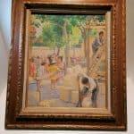 Peinture huile | tableau Le baron Pierre Arthur Foache | brocante | castres | Tarn