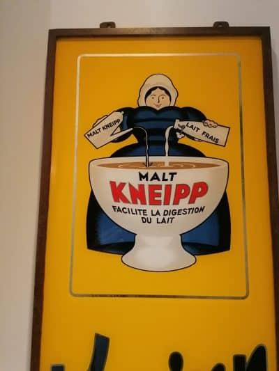 Plaque ancienne publicitaire - publicité vintage MALT Kneipp - Brocante - Castres - Tarn