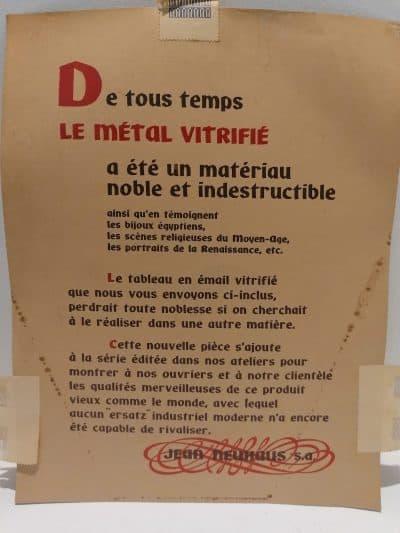 Roger Bezombes | plaque émaillée vintage numérotée | ancienne plaque émaillée | brocante castres Tarn | Vintage French Art